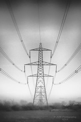 Pylons (AGB Photography) Tags: blackandwhite landscape nikon d750 pylons agbphotography