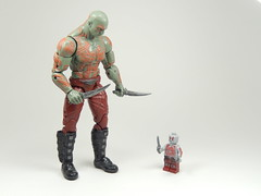 Mini-Me Drax (TheBrickMaestro) Tags: dave comics lego super destroyer legends heroes marvel figures bautista hasbro drax minifigure