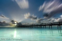 The Long Jetty (Beth Wode Photography) Tags: longexposure morning sea seascape green beach clouds sunrise canon pier sand jetty le sunrays daybreak seagreen 5dmarkiii bethwode