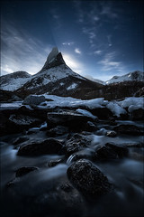 [ ... majestic ] (D-P Photography) Tags: light sky moon mountain norway night canon dark stars landscape norwegen norwegian national majestic landschaft nordnorwegen stetind northernnorway tysfjord dpphotography
