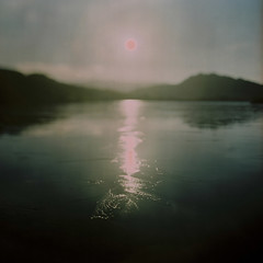Winter Sun (Mark Rowell) Tags: 120 6x6 film zeiss mediumformat scotland kodak hasselblad 60mm portra mallaig 500cm lochannostarie freelensing
