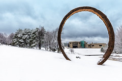 north carolina museum of art (demerson2) Tags: sculpture snow art museum canon lens is angle thomas north wide carolina usm sculptures sculptor 6d sculptors sayre f4l gyre ef1635mm canon6d 130