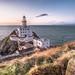 Sunrise in Baily lighthouse, Dublin, Ireland
