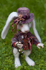 White Rabbit (olesyagavr) Tags: felting hare rabbit white