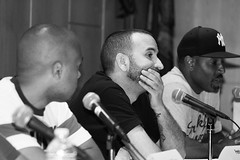 IMG_9598bw (Brotha Kristufar) Tags: nyc bw ny college monochrome closeup portraits canon campus 50mm marketing athletics shoes panel zoom market culture indoor nike 300mm jordan business indoors footwear portraiture sneaker week conference consultant discussion hip hop press wes owner businesses ewing portrat panelist evers medgar panelists entreprenuer brokklyn