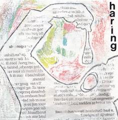 # 204 (22-07-2016) (h e r m a n) Tags: haring herman illustratie tekening bock oosterhout zwembad 10x10cm 3651tekenevent tegeltje drawing illustration karton carton cardboard herring fish herringbite vis haringhappen hollandenieuwe