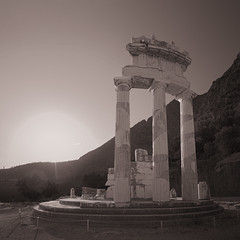 Delphi (ilias0zwgrafo) Tags: monochrome outdoor architecture temple delphi greece hdr ultrawide canon