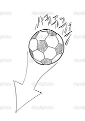 sketch of the flying football ball with flames and arrow (supernoviy) Tags: ball soccer football sport background equipment motion game flame flying leisure direction play sphere fly fun team competition championship goal single move kick pentagon recreation traditional world arrow classic hobby isolated sketch drawing vector doodle white black drawn chalk art hand cute handdrawn pencil pen free draw image illustration cartoon