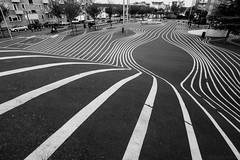 stripes near the red square in Copenhagen (www.carbonat380.de) Tags: 4056 918 918mm blackandwhite denmark dnemark gx7 kobenhavn kopenhagen lumix mzuiko mft microfourthirds olympus panasonic bw grey monochrome structure travel travelphotography