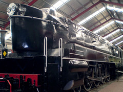 520 class loco (PhillMono) Tags: olympus australia south locomotive steam train rail history heritage museum preserved restored emptiness empty islington streamlined art deco