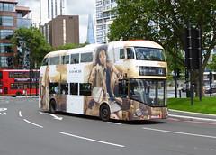 GAL LT684 - LTZ1684 - OSF - ELEPHANT & CASTLE - SUN 3RD JULY 2016 (Bexleybus) Tags: street new elephant bus london castle ahead coach all go ad over route advert boris bond and routemaster 12 hybrid tfl goahead wrightbus nbfl coachcom borismaster lt684 ltz1684