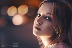 Cristina (lucafoscili) Tags: light portrait urban italy woman motion colors girl beautiful beauty smile face fashion night hair outdoors happy lights model eyes nikon bokeh availablelight 85mm happiness naturallight d800 nikond800 lucafoscili
