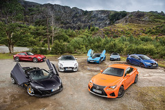 Group shoot - McLaren 650S - Lexus RCF - Mercedes AMG GT-S - Jaguar F-Type R AWD - BMW i8 - Mazda MX5 - Honda Civic Type R (Jonathan Fleetwood) Tags: auto uk blue red orange sports car wales honda silver wow landscape photography mercedes cool automobile purple 4x4 group scenic fast automotive special turbo mclaren r bmw static civic operations jaguar petrol hybrid mazda groupshot v8 awd sportscar amg mx5 lexus typer gts fourwheeldrive fastcar i8 2l rcf ftype 650s