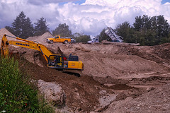 At Work (robinlamb1) Tags: trees clouds truck outdoors bc outdoor digging dump front pit machinery end loader gravel digger abbotsford