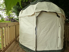 "Mini Yurt on decking • <a style=""font-size:0.8em;"" href=""http://www.flickr.com/photos/61957374@N08/28285176831/"" target=""_blank"">View on Flickr</a>"
