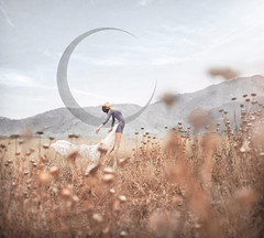 Moonshadow (Michelle.A.M.) Tags: california flowers light portrait ballet woman moon mountains girl field sunshine yellow self outside freedom back dance movement weeds soft flickr purple bend wind outdoor free luna serene dried conceptual solitary graceful whimsical