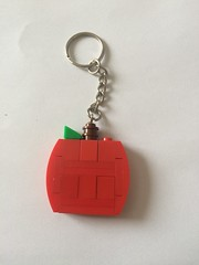 lego apple keyring (if i were a brick) Tags: lego accessories gift favour wedding apple teacher keyring custom