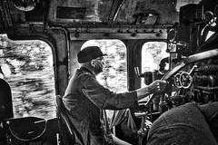 Loch Eil Scotland 11th August 2016 (loose_grip_99) Tags: jacobite scotland railway railroad rail steam train lner k1 260 62005 engine locomotive gassteam uksteam trains railways transportation preservation august 2016 blackwhite footplate driver cab noiretblanc