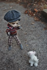 Bashful Burt on the Road (tamsykens1) Tags: dog eye big doll hand sad wilde sally made imagination burt togs bashful timid tonner