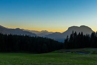Sonnenuntergang am Wilden Kaiser, Tirol