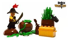 Enemy spotted! (BrickWarriors - Ryan) Tags: brickwarriors custom lego minifigure weapons helmets armor bicorn hat pirate colonial ship captain cutlass lantern fort