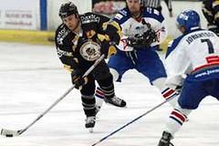 #44 Mike ELLIS in action (kirusgamewornjerseys) Tags: bracknell bees england ice hockey game worn jersey mike ellis