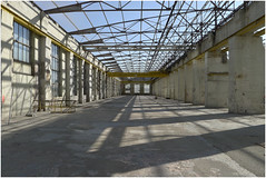 Halle skelettiert (LichtEinfall) Tags: p1020728halle17finex raperre kln clouth clouthwerke halle