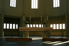 Hallgrmskirkja Church (janroles) Tags: indoors church iceland reykjavk candles altar light windows canoneos400d flickr