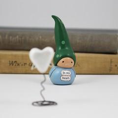 In Memoriam Gnome- Sympathy Gift, Bereavement, Remembrance (humbleBea) Tags: inmemoriam inmemoryof sympathy bereavement miniature gnome figurine beaswees humblebea inmyheart death keepsakegift handmade angelwings remembrance
