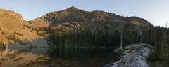 The Unnamed lake of Piper Basin (s_jenkV2) Tags: mission mountains mountain range montana swan seeley valley approach piper basin lakes ducharne summer season 2016 backpack trip hiking explore adventure forest nature wild wilderness huckleberry bush camp camping fire campfire canon 70d