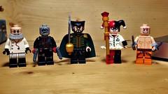 Bat-Villains (LordAllo) Tags: lego dc batman hugo strange hush ras al ghul harley quinn zsasz arkham asylum