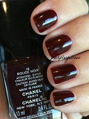 Chanel Rouge Noir (purple yellow) Tags: chanel rouge noir 18 nail polish