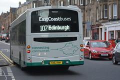 10195 (Callum's Buses & Stuff) Tags: lothianbuses edinburgh edinburghbus bus buses b7rle country busesedinburgh green cream a199 tranent haddington dumbar 107 124 x24 eastcoastbuses ecb