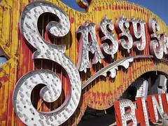 Sassy Sally's /Las Vegas (kenjet) Tags: neon sign neonsign old vintage history historic lv vegas lasvegas neonmuseum boneyard museum neonboneyard sassy sallys sassysallys casino gambling s letters bulb bulbs light lights yellow white