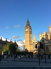 Big Ben and the London Eye (genibee) Tags: bigben clock tower londoneye ferriswheel