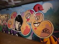 graffiti, Leake Street (duncan) Tags: graffiti leakestreet spock mrspock dope