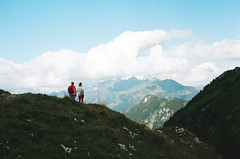 wide mountainscape (Kathleen Vtr) Tags: mountainscape mountains beautiful view panorama swiss alps panoramic wide nature wild home switzerland explore discover hikingday hike wanderer landscape photography analog 35mm film canon