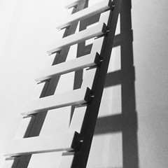 Climb the ladder. Lego minimalism. (askansbricks) Tags: lego architecture shadowplay shadows ladder