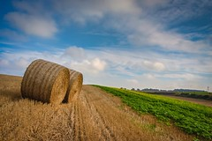 Summer's end (marc_leach) Tags: landscape rural clouds field sky bails lincolnshire wolds canon sigma