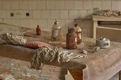 Hospital No. 126, Pripyat (Chernobyl Exclusion Zone)_3 (Landie_Man) Tags: none pripyat chernobyl disused closed abandoned hospital no126 no 126 number 1 2 6 radiation radioactive exclusion zone the ukraine eastern europe soviet union ussr cppp ccpp medic al medical ionising health firemen uniform helmet doctore doctor nurse liquidator liquid liquidate heros