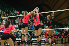 Colorado State University (ColoradoStateUniversity) Tags: pink volleyball mobyarena