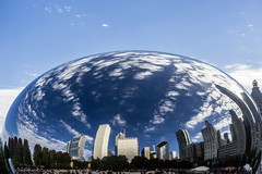 The Day After Cubs Win Bean - October 23, 2016 (Flipped Out) Tags: chicago millenniumpark cloudgate thebean mercuryrising