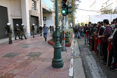 Demonstrators and police forces in Athens, Greece (paul.katzenberger) Tags: protest athens greece eurocrisis