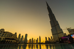 Burj Khalifa Sunset (Royston_Kane) Tags: dubai sony khalifa a7 burj 14mm sonya7 burjkhalifa rokinon14mm