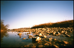 river (Roberto Messina photography) Tags: italy color film nature analog xpro crossprocessed january pinhole analogue zeroimage asti zero69 2015 fujivelvia100f