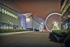 Echo Arena and wheel (Ade McCabe) Tags: longexposure night liverpool canon bigwheel hdr pierhead albertdock echoarena