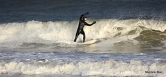 Wave was this big! (mootzie) Tags: sea white black big waves surfer surfing aberdeen surfboard wetsuit froth