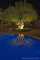 Mirroring by the pool (Dimitris Stergiou) Tags: vividstriking