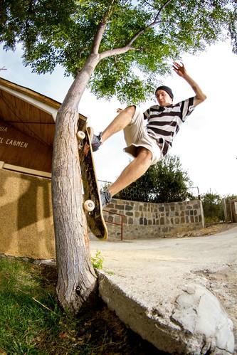 Soyer Rojas - wallride to  fakie por el arbol