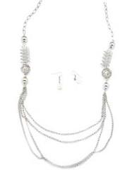 5th Avenue White Necklace P2610A-2 (2)